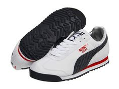 PUMA Roma Games White/New Navy/High Risk Red - Zappos.com Free Shipping BOTH Ways.....for mark