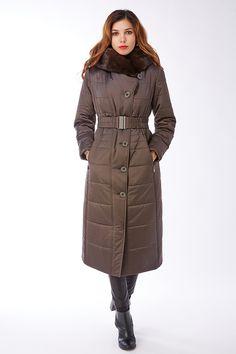 Товар Демисезонное пальто из Италии Garioldi с мехом норки