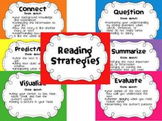 One Happy Teacher: Yay for Summertime! And a FREEBIE! Reading strategies posters.