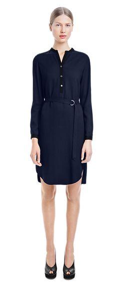 Heavy Crepe Shirt Dress - Dresses - Shop Woman - Filippa K