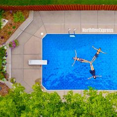 plant aerial photography of three women floating on pool forming propeller Aerial drone top-down view of three girls floating in a backyard swimming pool in the shape of a Peace sign, or a Mercedes emblem triangle. Girls just wanna have fun. Swimming Pools Backyard, Backyard Landscaping, Fun Backyard, Shopping Pictures, Solar Pool Heater, Free Pool, Aerial Drone, Heated Pool, In Ground Pools