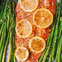 Lemon Pepper Garlic Rainbow Trout and Asparagus baked on a sheet pan in the oven. Healthy, low-carb, gluten free, keto-friendly recipe, packed with healthy omega 3 fatty acids. Easy and quick - only 30 minutes from start to finish! Trout Recipes Oven, Trout Fillet Recipes, Salmon Recipes, Lake Trout Recipes, Fish Recipes Lemon Pepper, Cabbage Recipes, Rainbow Trout Recipe Baked, Rainbow Trout Recipes, Steelhead Trout Recipe Baked