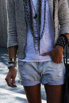 Boho, ethnic, hippie denim look