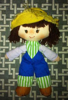 Vintage 1980s Strawberry Shortcake Huckleberry Pie Doll Rag Doll #StrawberryShortcake