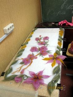 (85) Одноклассники Wet Felting Projects, Felting Tutorials, Nuno Felting, Needle Felting, Felt Crafts, Diy And Crafts, Hand Painted Dress, Felt Pictures, Nuno Felt Scarf