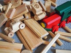 the wooden blocks Pa Murphy made at Flushed with Rosy Colour