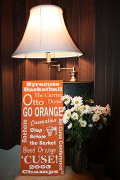 Syracuse Basketball by LOVE5073 on Etsy, $65.00