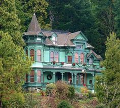 Shelton Murphy House, Eugene, OR.  This Victorian Mansion sits at the base of Skinners Butte overlooking Eugene.