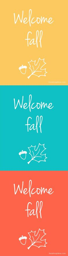 Welcome fall free printable art on iheartnaptime.com ♥