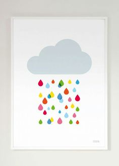 I've just found Multicoloured Rain Cloud Print. A new arrival from Showler and Showler, our Multicoloured Rain Cloud print, the perfect way to add some colour to your walls. Rainbow Bedroom, Rainbow Nursery, Clouds And Rain, Nursery Art, Nursery Decor, Posca Art, Deco Addict, Childrens Wall Art, Cloud Art