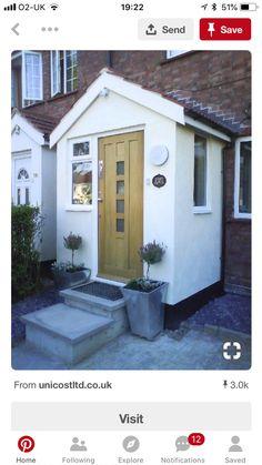New House Entrance Porch Window Ideas Porch Uk, House Front Porch, Cottage Porch, Front Porch Design, Up House, House Entrance, Entrance Hall, Brick Porch, Porch Windows