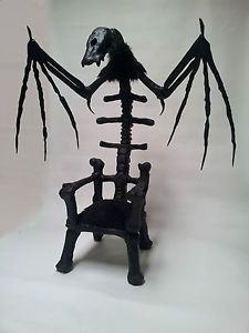 Throne Chair #Bat sculpture, OOAK beauty