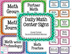 Second Grade Math Maniac: Daily Math Center FREEBIE!
