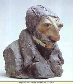 Honore Daumier. Unknown, maybe Hippolyte Lucien-Joseph Lucas (1807-1878), a Journalist, maybe P.Mendez de V. 1833. Colored clay. Musée d'Orsay, Paris, France.