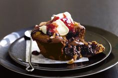 Release the MasterChef inside you and dazzle tastebuds with these gooey chocolate and hazelnut puddings.