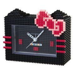 Hello kitty x nano block Alarm Clock Black SANRIO