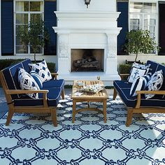 shop deep seating outdoor furniture built for comfort outdoors frontgate offers outdoor sofas and chairs in a variety of different patterns and styles blue and white furniture