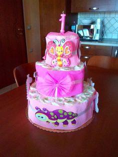 Torta di pannolini 1° compleanno diaper cake