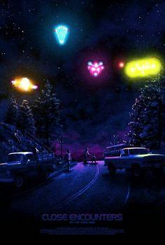 Image du film Close Encounters of the Third Kind (Steven Spielberg) de Kevin M Wilson The Matrix Movie, 7 Arts, Aliens And Ufos, Ancient Aliens, Meet Girls, Close Encounters, Alien Encounters, Cinema Posters, Music Posters