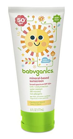 Babyganics Mineral-Based Baby Sunscreen Lotion, SPF 50, 6oz Tube (Pack of 2). Shopswell | Shopping smarter together.™