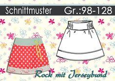 Kindermode - Schnittmuster Rock mit Jerseybund Gr.:98-128 - ein Designerstück von schnipp-schnapp-77 bei DaWanda
