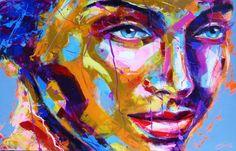 Peintre portraitiste contemporain Berto Portraits, Les Oeuvres, Contemporary Art, Painting, Color, Contemporary, Canvas, Artist, Paint