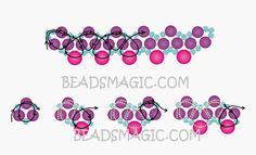 Free pattern for beaded necklace First January   U need: seed beads 11/0 pearl beads 4-6 mm pearl beads 6-8 mm
