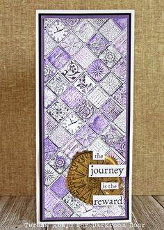 Card by Teresa Abajo using Darkroom Door Arty Mosaic Collage Stamp.