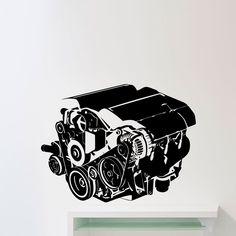 Cheap Motor del coche pared pegatinas decoración de la sala taller de coches Auto Repair Service Garage vinilo etiquetas de la pared, Compro Calidad Pegatinas de Pared directamente de los surtidores de China:          Motor del coche pegatinas de pared decoración del hogar salón               Aviso importante:  P