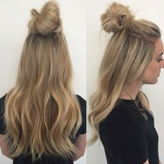 Top Knot Extensions// Hair Extensions// Hairstylist // Clip-In Extensions…
