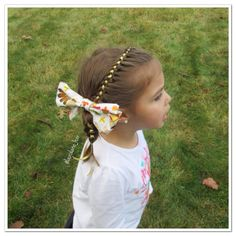 """Side 4 strand with ribbon and a Thanksgiving bow!  This one is inspired by @braidsbysophia but I put the bow in the middle to cover some of my…"""