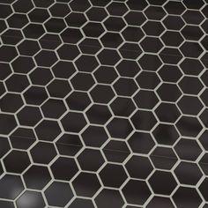 "Found it at Wayfair - Retro 2"" x 2"" Hex Porcelain Mosaic Tile in Matte Black"