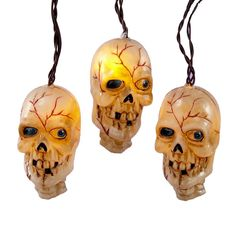 Super-creepy skull lights (and much more)!  Halloween Lights: Decorate For Halloween With Lit Decorations