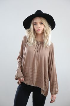 Scoot's Pick: The Sun Faded Isabel Blouse in Mocha
