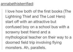 Percy Jackson parallels!