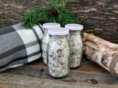 Mountain Man Tea Infused Bath Salts: Organic di BeachHouseTeas