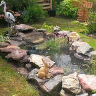 Water Features & Garden Fountains: 830+ from £20 Pond Liner, Backyard Water Feature, Water Features In The Garden, Garden Fountains, Ponds, Garden Design, Image, Diy Garden Fountains, Landscape Designs