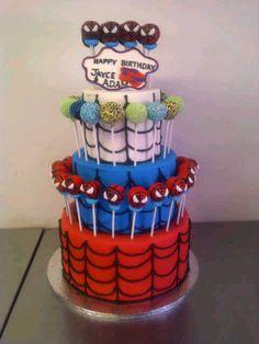 Spiderman Cake Ideas for Little Super Heroes - Novelty Birthday Cakes Spiderman Cake Topper, Spiderman Theme, Superhero Theme Party, Superhero Birthday Cake, Novelty Birthday Cakes, Batman Cakes, Happy Birthday Adam, 4th Birthday Parties, Slab Cake