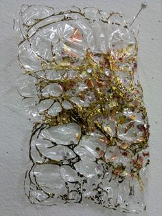 Kim Thittichai- cellophane , hand painting and heat gun