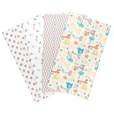 Flannel Burp Cloth Set 4 pack