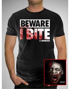 The Walking Dead 'Beware I Bite' Tee