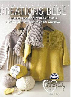 Album sous forme d& Knitting Books, Crochet Books, Knitting For Kids, Knitted Baby Outfits, Knit Baby Sweaters, Baby Knits, Knitting Magazine, Crochet Magazine, Baby Vest