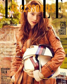 Krystal Looks Ready for Fall on ′ELLE′ Cover