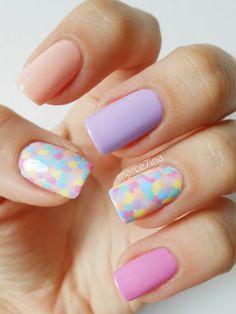 Marce7inas Nai7 Art: Pastels #nail #nails #nailart