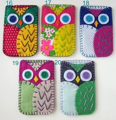 owl phone case, combine craft-a-day pattern with this design Owl Crafts, Diy And Crafts, Crafts For Kids, Arts And Crafts, Felt Phone, Sewing Crafts, Sewing Projects, Felt Case, Owl Always Love You