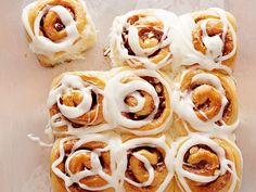 """Cinnamon rolls get an Italian-style makeover in Giada's recipe: hazelnuts are mixed into the brown-sugar filling and mascarpone cheese is incorporated into the icing. """"La Dolce Vita"""" indeed."""