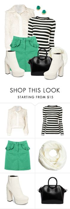 """""""winter outfit"""" by bb-tka ❤ liked on Polyvore featuring Tory Burch, Laneus, Love Moschino, Dolce Vita, Givenchy, Bloomingdale's and GreenSkirt"""
