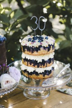 Naked layered birthday cake | Naomi's 30th Birthday | HOORAY! Mag