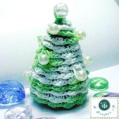Vintage Pearl Pine Tree Decoration | AllFreeCrochet.com