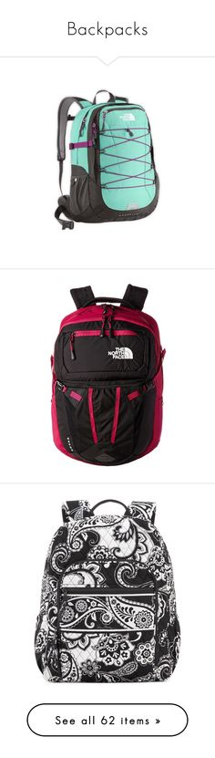 """""""Backpacks"""" by annbill ❤ liked on Polyvore featuring bags, backpacks, the north face bag, the north face daypacks, day pack backpack, knapsack bags, the north face backpack, laptop backpacks, laptop rucksack and water resistant laptop backpack"""
